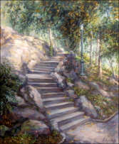 Stairway in Central Park, New York. 2003 SOLD